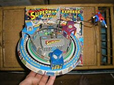 Superman tin toy wind up mechanical with BOX MINT made by Schylling