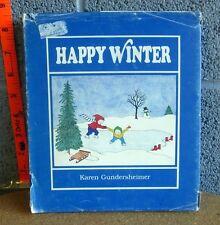 HAPPY WINTER signed book Karen Gundersheimer autograph 1982 sisters