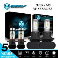 H13 9008 LED Headlight+9145 9140 H10 Fog Lights Combo for 2004-2014 Ford F-150