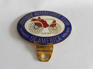 Antique Automobile Club of America Vintage Duryea Enamel Car Grill Badge Emblem