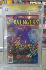 Avengers Annual #7 (DEATH of Adam Warlock) CGC 8.5 SS Signed by Stan Lee 1977 @