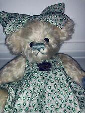 Annette Funicello Teddy Collectible Co. Green Dress & Bow Doll Pretty Brown Nice