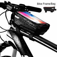 Cycling Bike Bicycle Front Top Tube Frame Bag MTB Waterproof Phone Holder Case