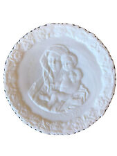 1972 Fenton White Satin Mother's Day Decorative Collector Plate