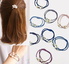 HOT mix 2pcs pearl rubber band hair ring for Charm bracelet hair accessories #1