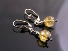 Citrine Earrings, Solitaire, Handmade and Wire Wrapped Jewelry