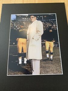 Vince Lombardi Green Bay Packers NFL  Matted Vintage Photo HOF