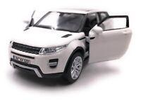 Range Rover Modellino Auto con Richiesta Caratteristiche Evoque SUV Bianco Scala