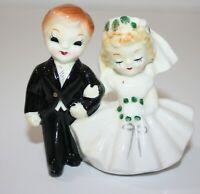 Vintage Napco Ceramic Bride and Groom Figurine Made in Japan #N3299