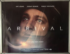 Cinema Poster: ARRIVAL 2016 (Donnelly Quad) Amy Adams Jeremy Renner