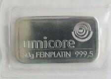 50 g Umicore Feinplatin Barren 999,5 original sealed verschweißte OVP