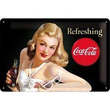 Nostalgie Blechschild - Refreshing Coca Cola - Blechschilder