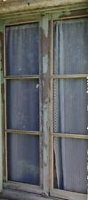 Vintage French Net Lace Panel Curtains Set of 2