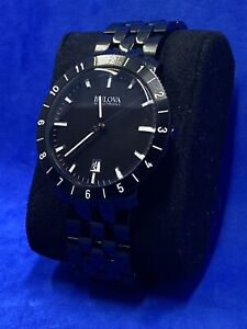Bulova Accutron II 98B218 Mens Quartz Wristwatch Black 42mm *New* without Tags