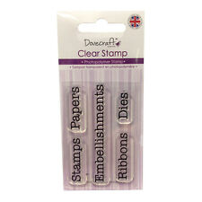 Dovecraft photopolymère clear stamp-craft balises pour cartes ou artisanat