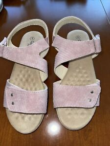 Lovely Pink adjustable Sandals By Cushion Walk. Size 5. Brand New