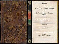 Recht  Jura  Deutscher Bund  Johann Ludwig Klüber  Quellen-Sammlung  1833