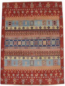 Handmade Rare Tribal Rusty Red 5X7 Kazak Gabbeh Pakistan Rug Oriental Gabbeh