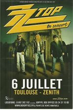 FLYER PLV - ZZ TOP EN CONCERT LIVE A TOULOUSE ( FRANCE ) / COMME NEUF - LIKE NEW