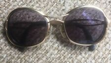 Vintage 1960's Ropco 50/20 Shirelle Eyeglasses Gold Tone Frame Made In Italy Rx