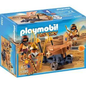 Playmobil 5388 Soldados Egipcios con Ballesta, Catapulta, History, Egipto, Roma