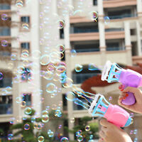 Bubble Machine Blower Fan Toy Kids Soap Water Bubble Gun Summer Outdoor