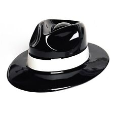 d438f86cab9c6 BLACK PLASTIC GANGSTER 1920 S HAT PARTY SUPPLIES COSTUME ACCESSORY