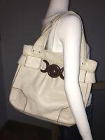 Orla Kiely designer bag Beige Leather  Authentic Shoulder shopper cost over £300