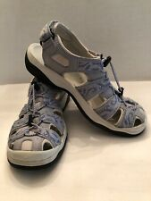 L.L. Bean Womens Size 9M Leather Sport Sandals 281489 Blue Preowned