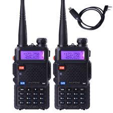2x BaoFeng UV-5R 2-way Radio Walkie Talkies 128Channnels Portable VHF/UHF +Cable