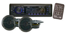 "New PLMRKT14BK Marine Boat MP3 Player Stereo AM FM Radio 4X 6.5"" Speaker Package"
