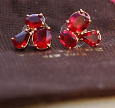 Kate Spade New York Crystal Cluster Stud Earrings-Rich Ruby Red Vibrant
