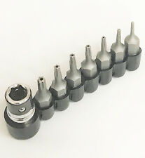 8 PC.TAMPER PROOF SECURITY STAR TORX BIT SET (T5, T6, T7, T8, T9, T10,T15 )