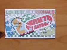 BIGLIETTO LOTTERIA Nazionale Lotteria di Monza F1 1991 [AF20]