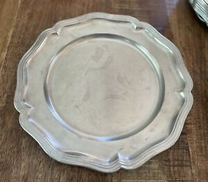 """VINTAGE PLATTER SKS Zinn PEWTER 95% Made in West GERMANY Charger PLATE 12 3/4"""""""
