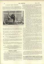 1900 Marquis Of Queensbury And Mr C A Smith On Tandem Cycle