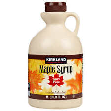 Kirkland Signature 100% Pure Grade A Dark Amber Maple Syrup, 1 Litre Bottle