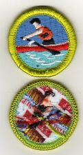 "Rowing (with life jacket) Merit Badge, Type J ""Scout Stuff"" Back (2008-10), Mint"