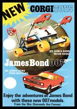 Corgi James Bond Moon Buggy Ford Mustang  Repro Advertising POSTER