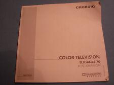 Grundig ColorTV Elegance 70, ORIGINAL Bedienungsanleitung