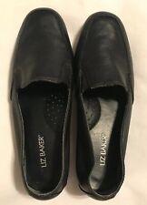 Liz Baker Women's Slip-on Loafer Leather Black 6M