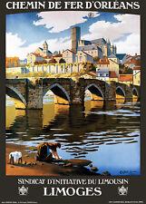 Affiche chemin de fer Orléans - Limoges