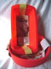Moldes de hornear rojos redondos para tartas y bizcochos