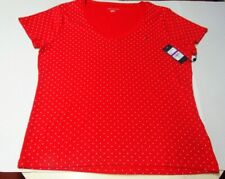 Tommy Hilfiger Women's  Top Red with White Polka Dots NWT Size XXL