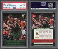 2013-14 Panini Giannis Antetokounmpo RC PSA 8 #194 Milwaukee Bucks NBA
