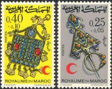 Marocco 1971 Croce Rossa/medico/salute/benessere/Gioielli Set 2 V (n32521)