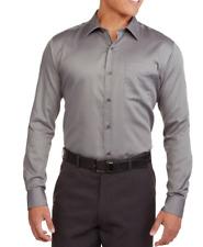 Men's Premium Wrinkle Resistant Long Sleeve Button Down Sateen Dress Shirt