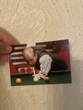 More details for rex williams - legendary snooker player - signed colour 5 x 4 photo with coa!