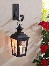 Laterne inkl. Wandhalter Windlicht Wandlaterne Kerzenhalter Metall Schwarz 27 cm
