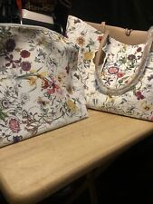 White Colorful Pocketbook Set, 2 Bags